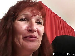 3some-granny-old and young-striptease