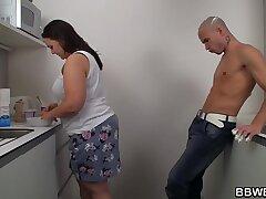 ass-bbw-fat-kitchen